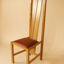 Conference chair oak leather
